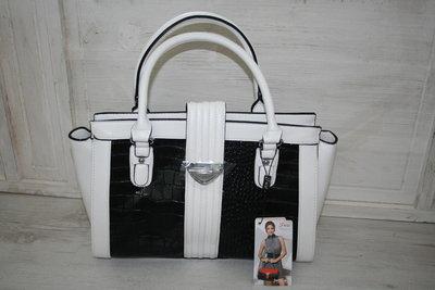Handtas zwart/wit