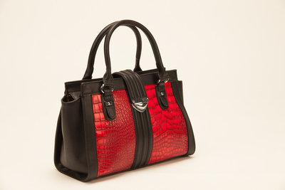Handtas rood/zwart