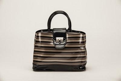 Handtas, zwart gestreept