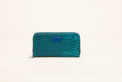 Portemonnee blauw lak